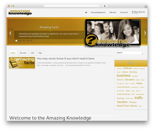 Ximenia company WordPress theme - amazingknowledge.com