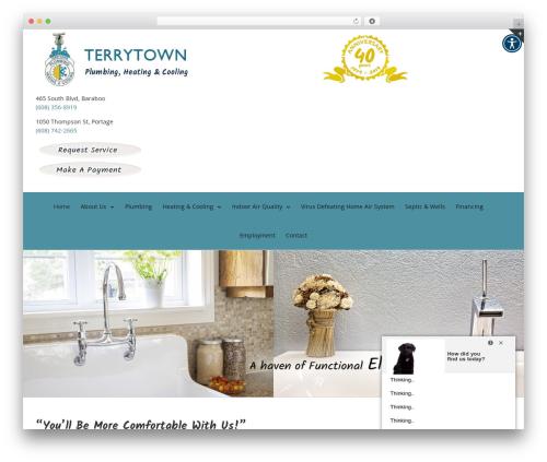 Avada WordPress theme design - terrytownplumbing.com