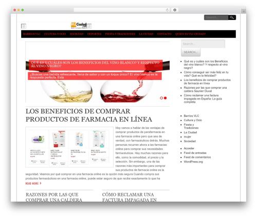 Best WordPress theme NewsPress Lite - vlcciudad.com