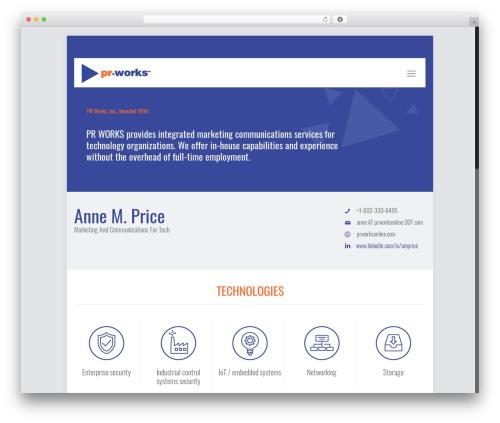 Betheme WordPress template - prworksonline.com
