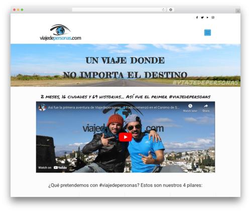 Betheme WordPress theme - viajedepersonas.com