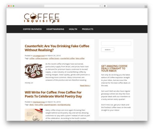 Buso Lightning theme WordPress - coffeeinquisitor.com