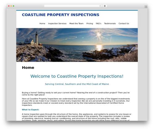 Clean Word best free WordPress theme - coastlinemaine.com