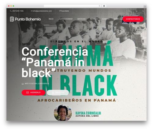ConferPress WordPress page template - puntobohemio.com
