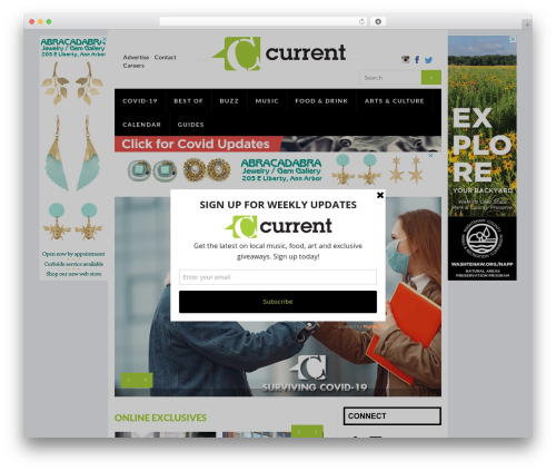 Current Magazine best WordPress theme - ecurrent.com