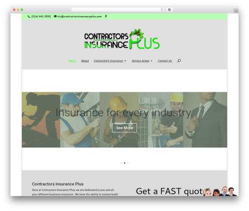 Divi WordPress theme - contractorsinsuranceplus.com
