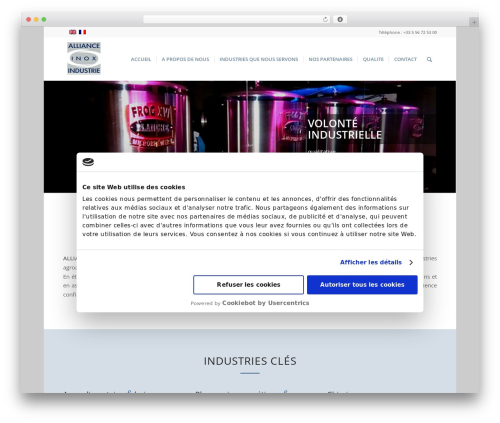 Enfold best WordPress template - allianceinox-industrie.com