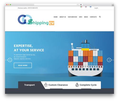 Global Logistics top WordPress theme - goshippingcv.com