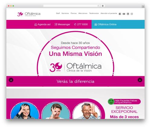 Healthandcare premium WordPress theme - oftalmicaperu.com