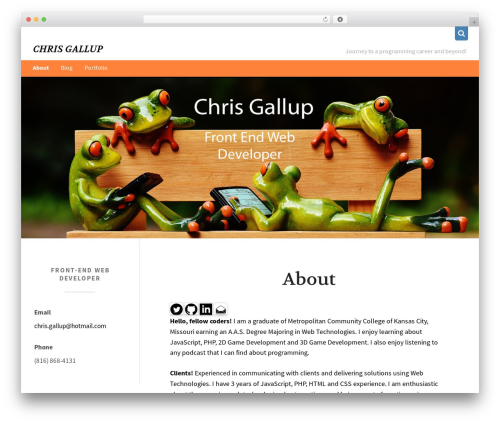jkl free WordPress theme - christophergallup.com