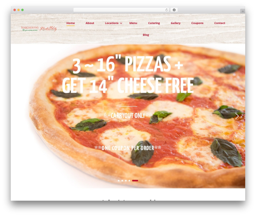 Pizzaro WordPress pizza theme - bestmargheritapizza.com