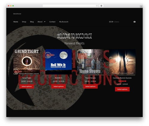 Storefront WordPress page template - boozhouse.com