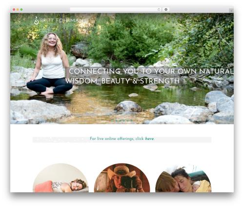 Theme WordPress Divi - brittfohrman.com