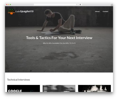 WordPress website template eLearningWP - codespaghetti.com