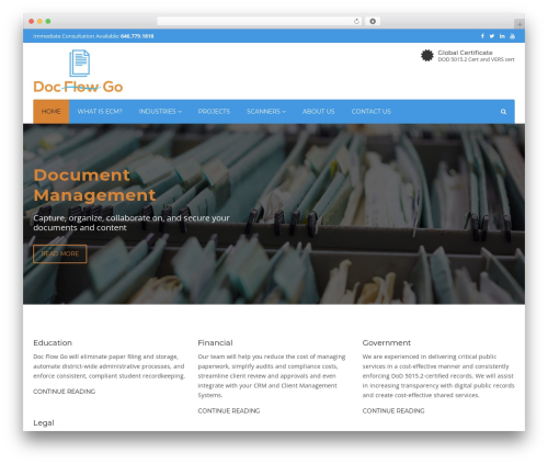 WordPress website template Industry - docflowgo.com