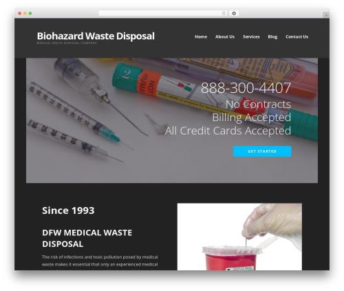 Ascension WordPress template for business - biohazardwastedisposal.com
