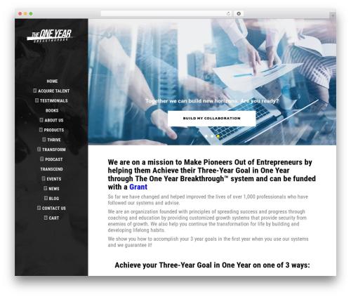 Aton theme WordPress - theoneyearbreakthrough.com