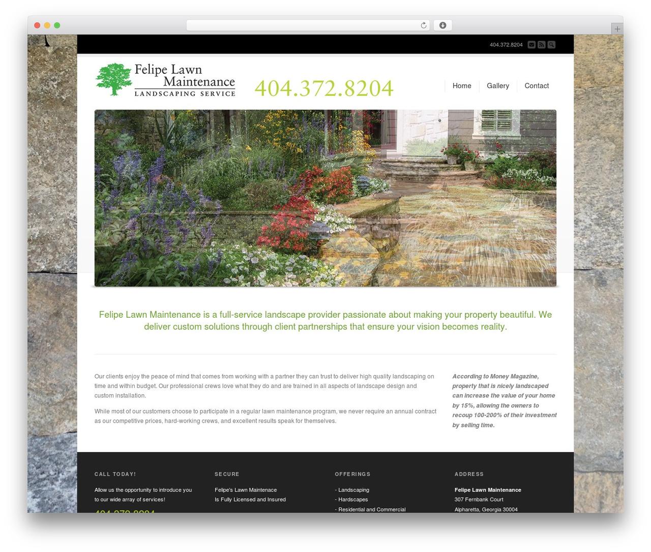 Best WordPress template Corona - felipelawnmaintenance.com