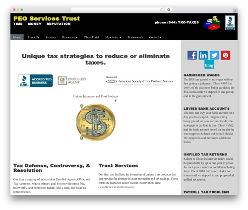 Customized3 business WordPress theme - peotrust.com
