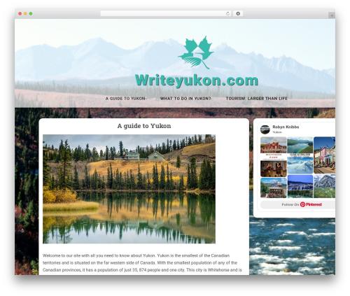 Easthill WordPress theme - writeyukon.com