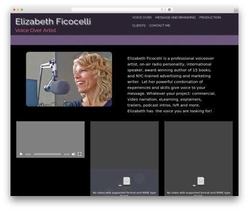 Evolv WordPress theme - elizabethficocelli-vo.com
