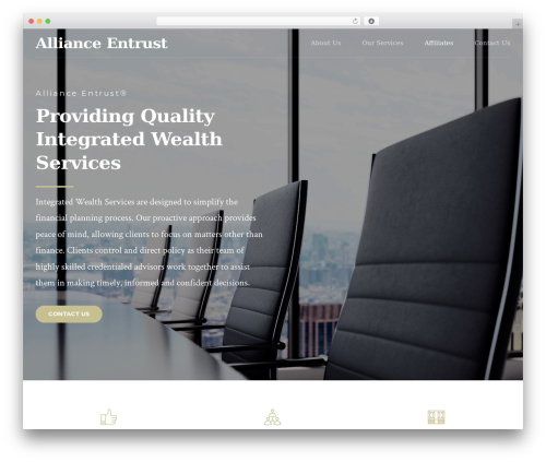 Finance WordPress template - aewealth.com