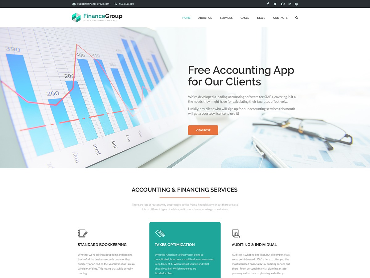 Financegroup WordPress theme