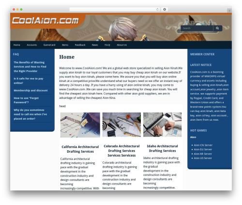Gillian WordPress template free - coolaion.com