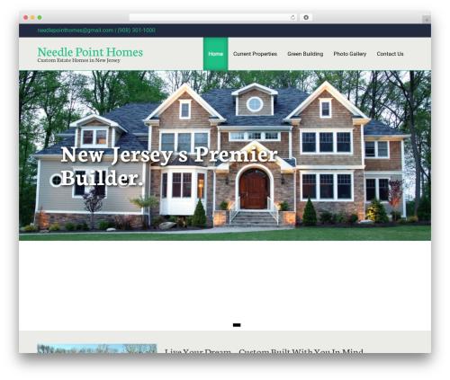 Greenr template WordPress free - needlepointhomes.com