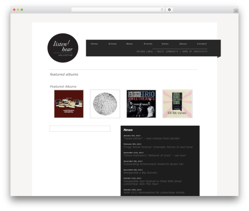 Grid Focus WordPress theme - listenhearcollective.com