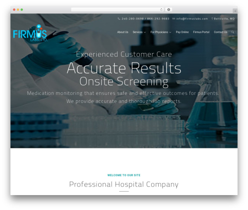 MedCare WordPress theme - firmuslabs.com