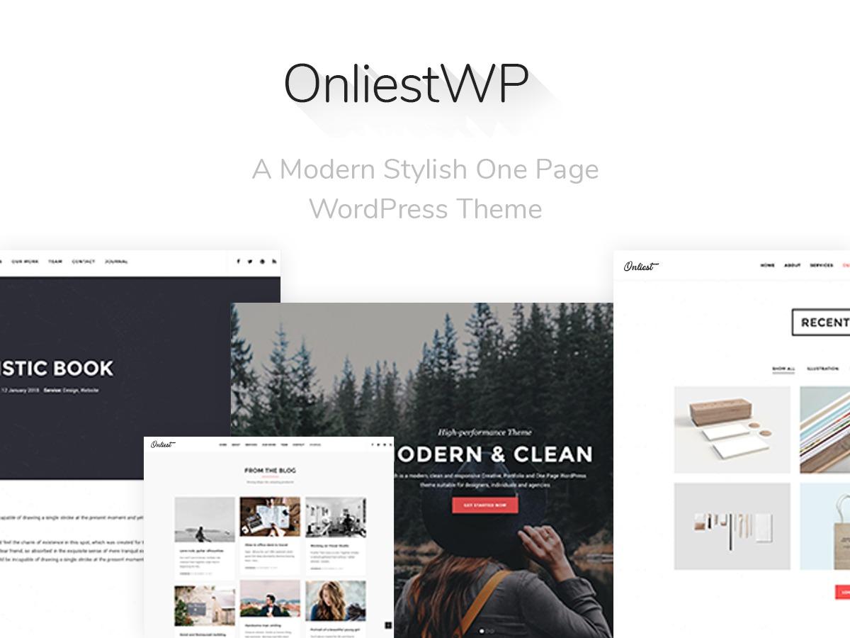 OnliestWP WordPress portfolio theme