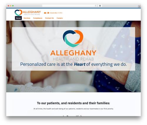 Polyclinic best WordPress theme - alleghanyrehab.com