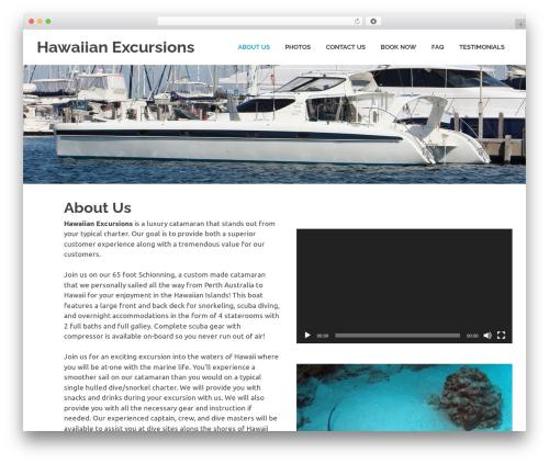 Poseidon WordPress page template - hawaiianexcursion.com