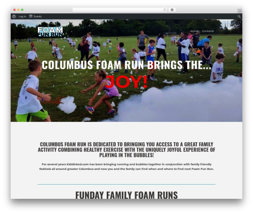 RunCrew WordPress theme design - columbusfoamrun.com