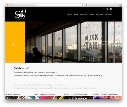 Salient WordPress theme - shcreaciones.com