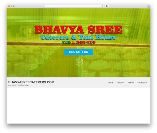 SKT White template WordPress - bhavyasreecaterers.com