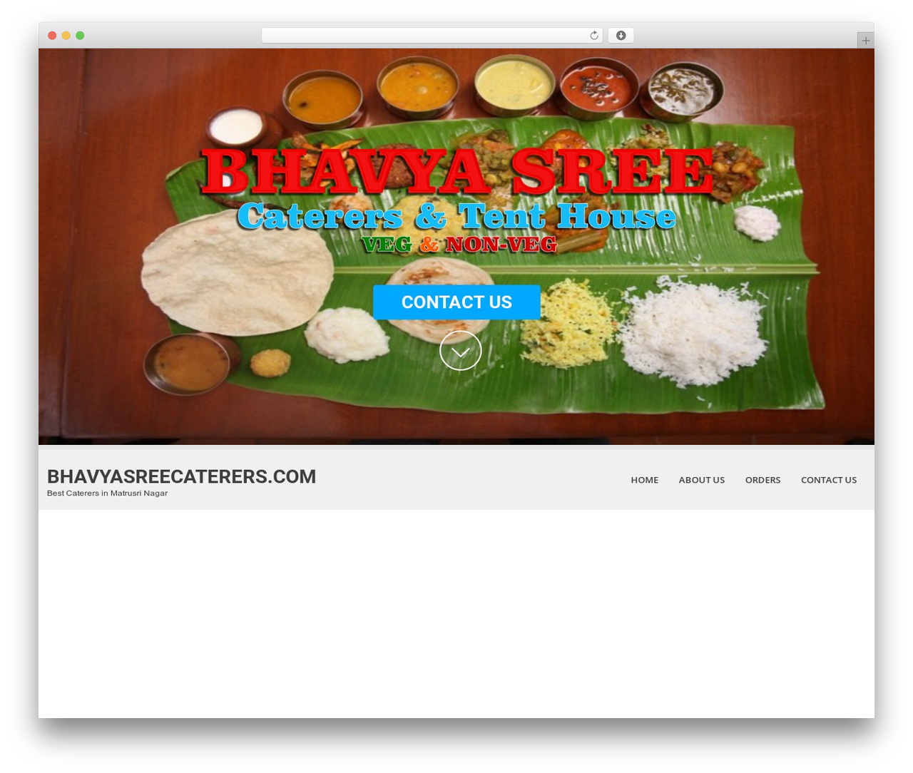 SKT White template WordPress - bhavyasreecaterers.com