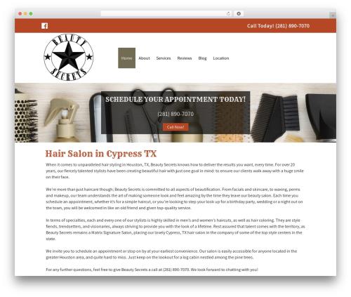Small Business Blueprint Theme WordPress template for business - beautysecretstexas.com