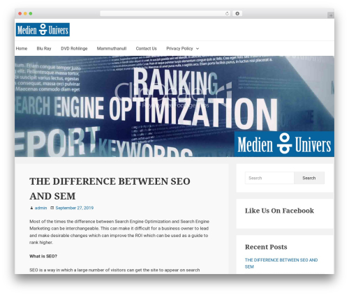 Suri WordPress template free - medienunivers.com