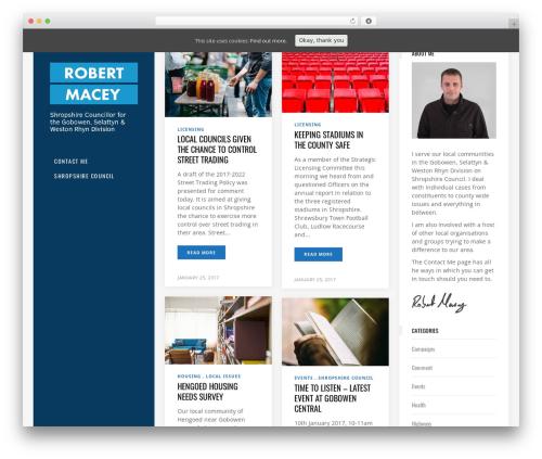 Template WordPress Flow - robertmacey.com