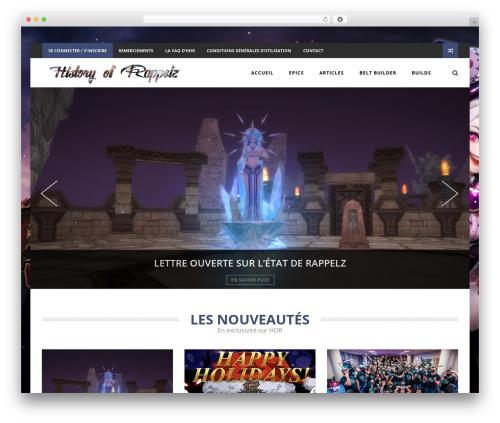 The REX WordPress theme design - historyofrappelz.com