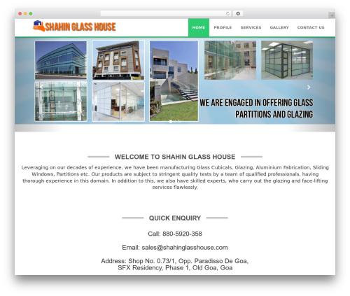 Weblizar free WordPress theme - shahinglasshouse.com