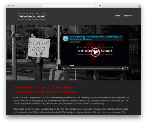 WordPress theme Ascension - rememberingthenormalheart.com