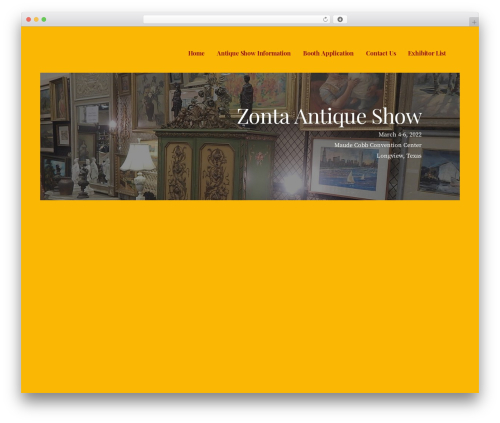 WordPress theme Ascension - zontaantiqueshow.com