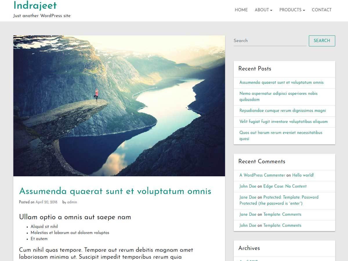 WordPress theme indrajeet