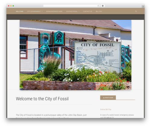 WordPress theme Polymer - cityoffossil.com