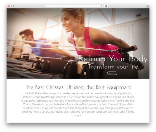 Yoga Fit WordPress website template - springstudiopilates.com