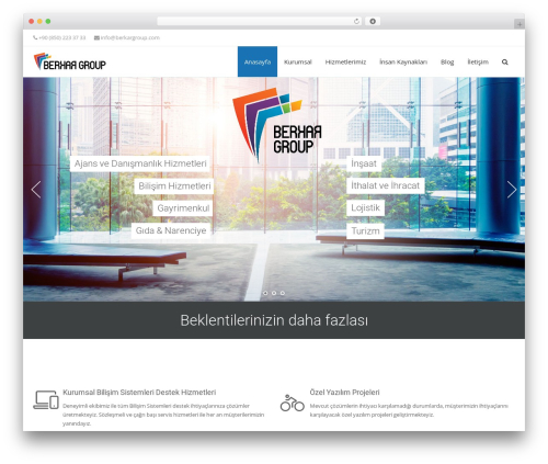 Adama theme WordPress - berkargroup.com