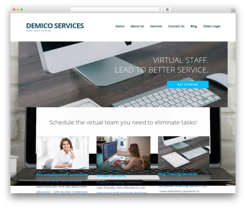 Ascension template WordPress - demicoservices.com